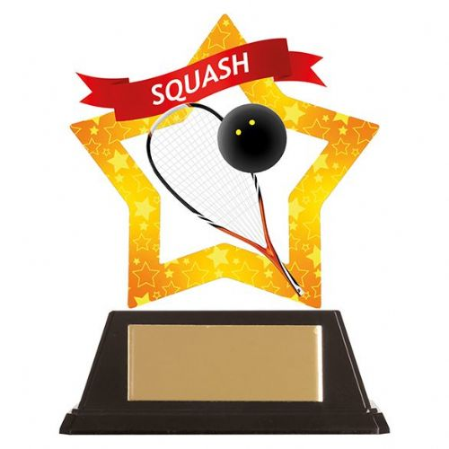 Mini-Star Squash Acrylic Plaque 100mm